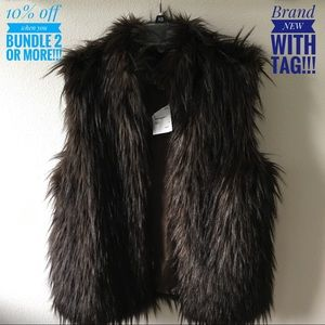 Michael Kors Faux Fur Brown Vest